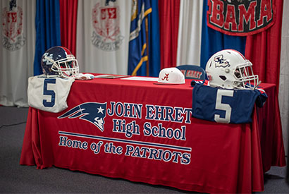 Two John Ehret Seniors Receive College Football Scholarships at Early Signing Ceremony