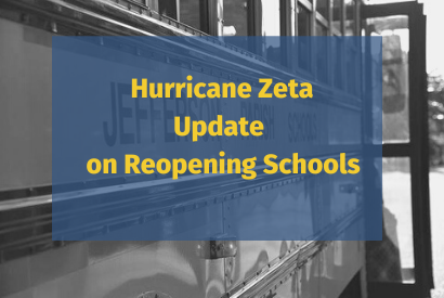 Hurricane Zeta Update 11/3