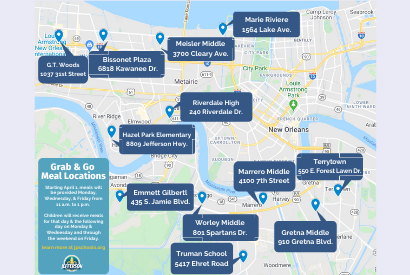 See Our Grab & Go Meal Location Map for Your Closest School Site