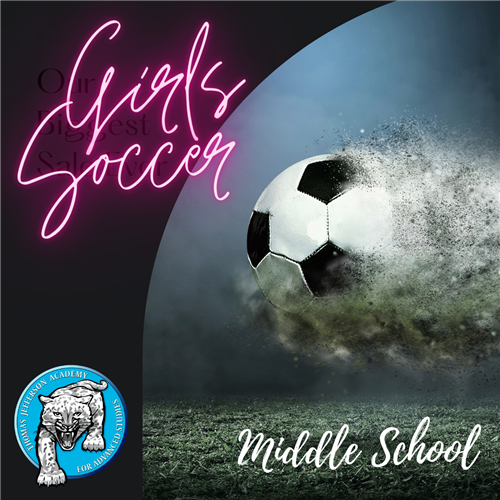Middle School Girls Soccer Graphic