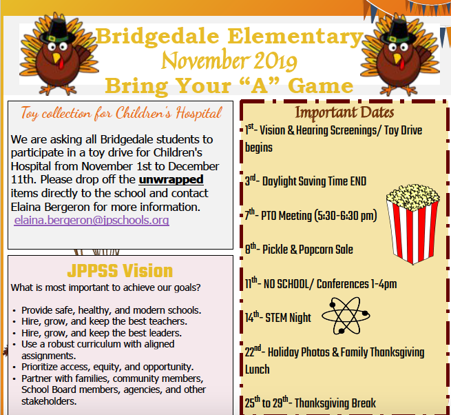 November School Newsletter