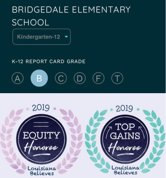 "BRIDGEDALE REMAINS A ""B"" SCHOOL!!!"