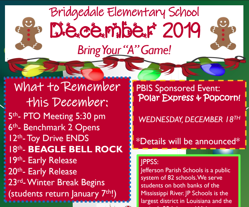 December School Newsletter