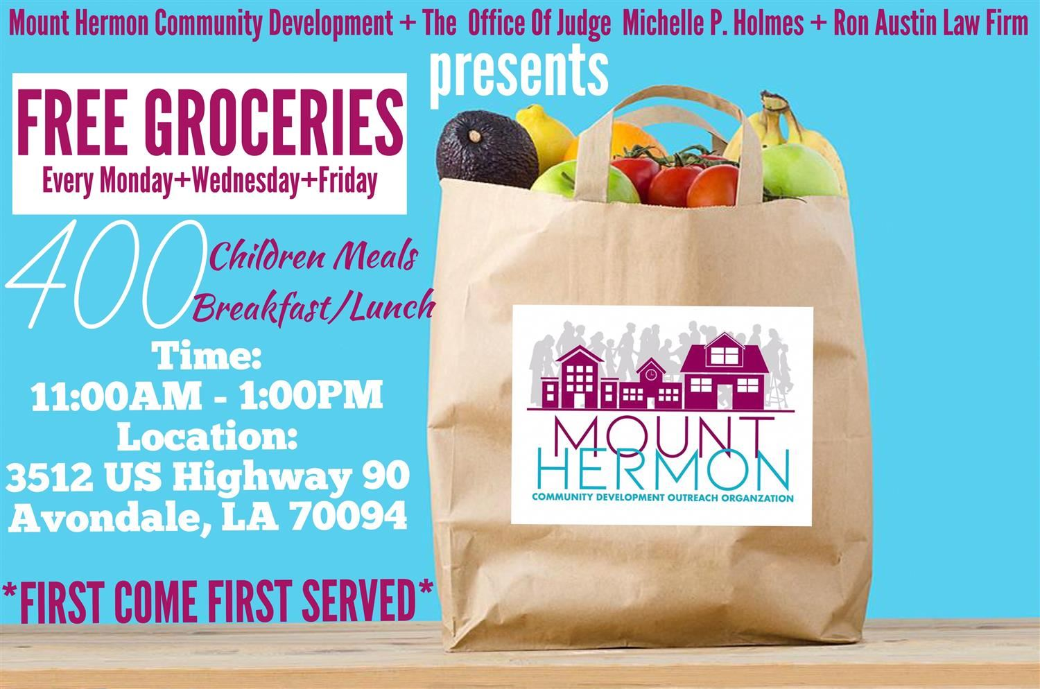 FREE FOOD DISTRIBUTION GIVEAWAY