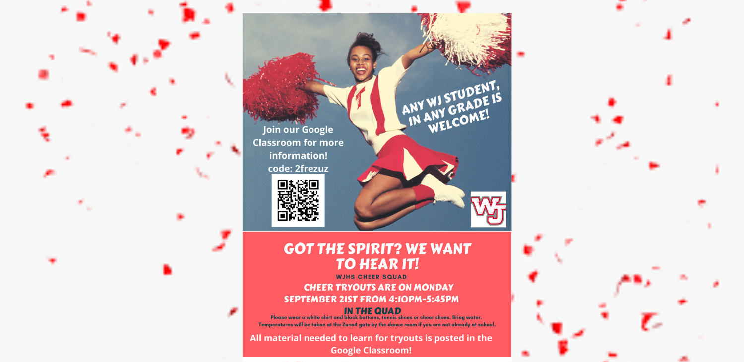WJHS Cheer Tryouts September 21, 2020