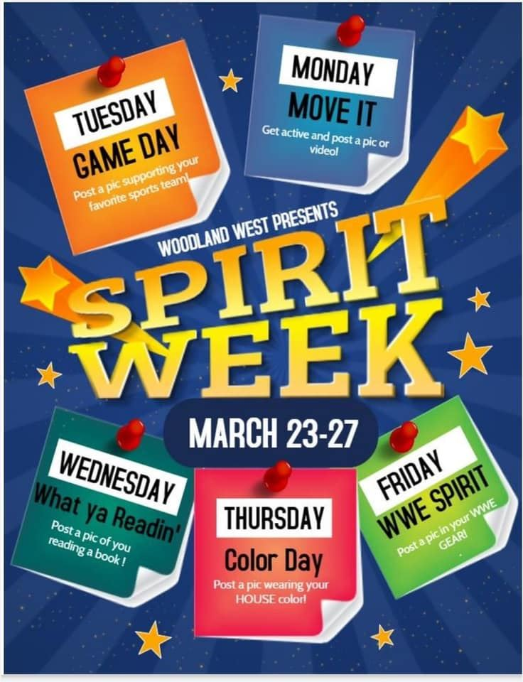 Spirit Week of March 23-27,2020