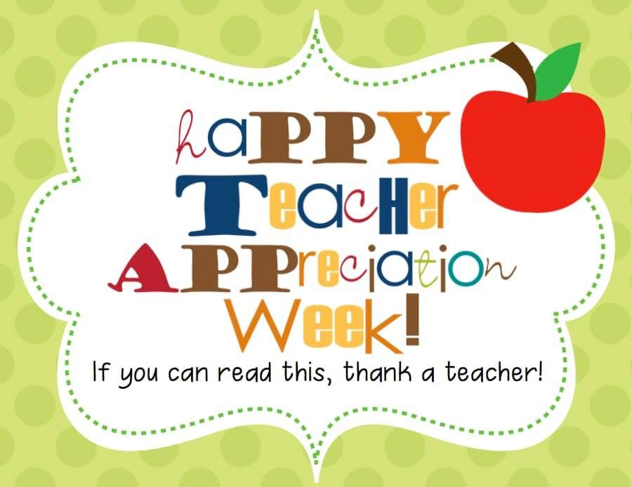 Happy Teacher/Staff Appreciation Week