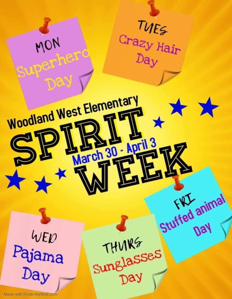 WWE Spirit Week March 30-April 3,2020