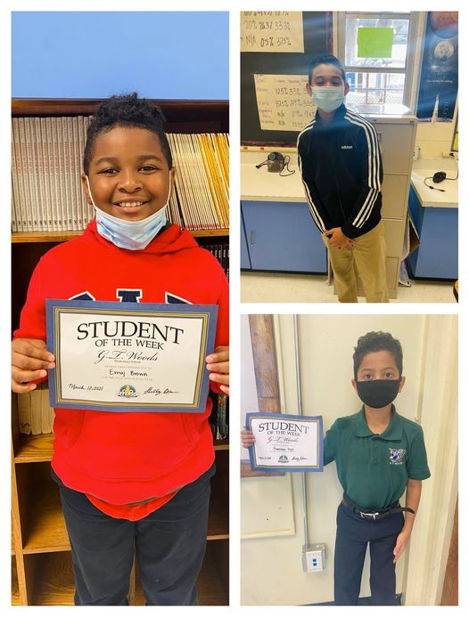 Congrats to Our Students of the Week 3/8-3/12!