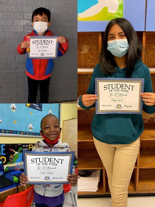 Congratulations to Our Students of the Week! 3/15-3/19