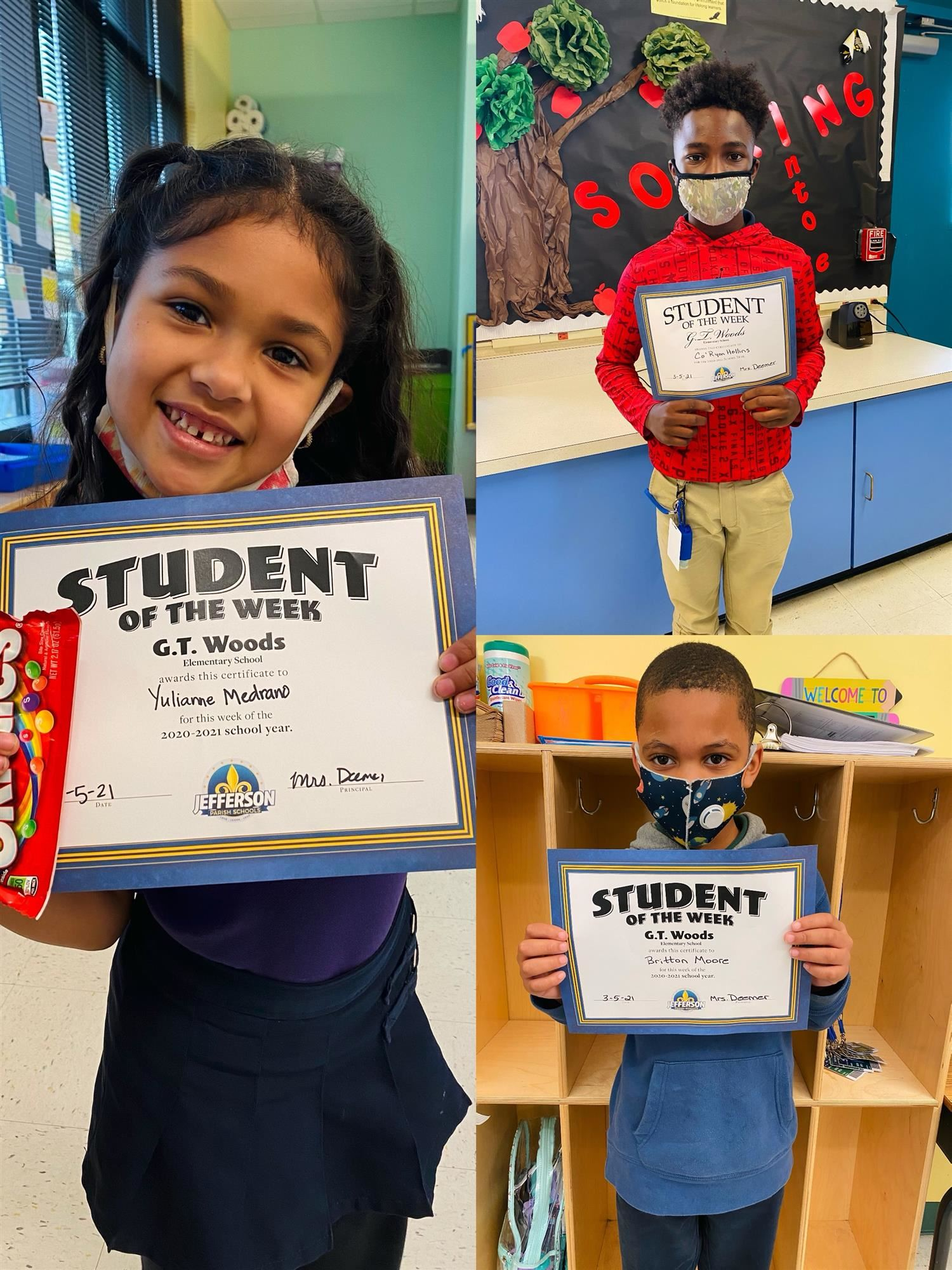 Congrats to Our Students of the Week 3/1-3/5!