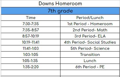 Downs Homeroom