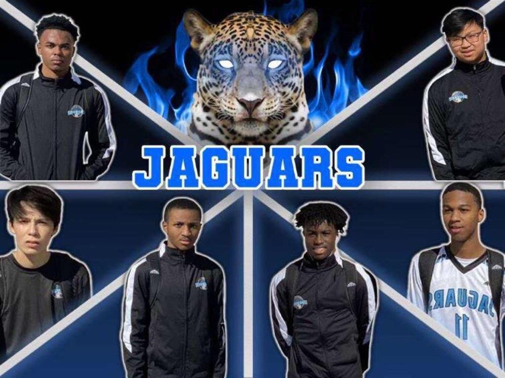 Team Pic with Jaguar in Blue Flames